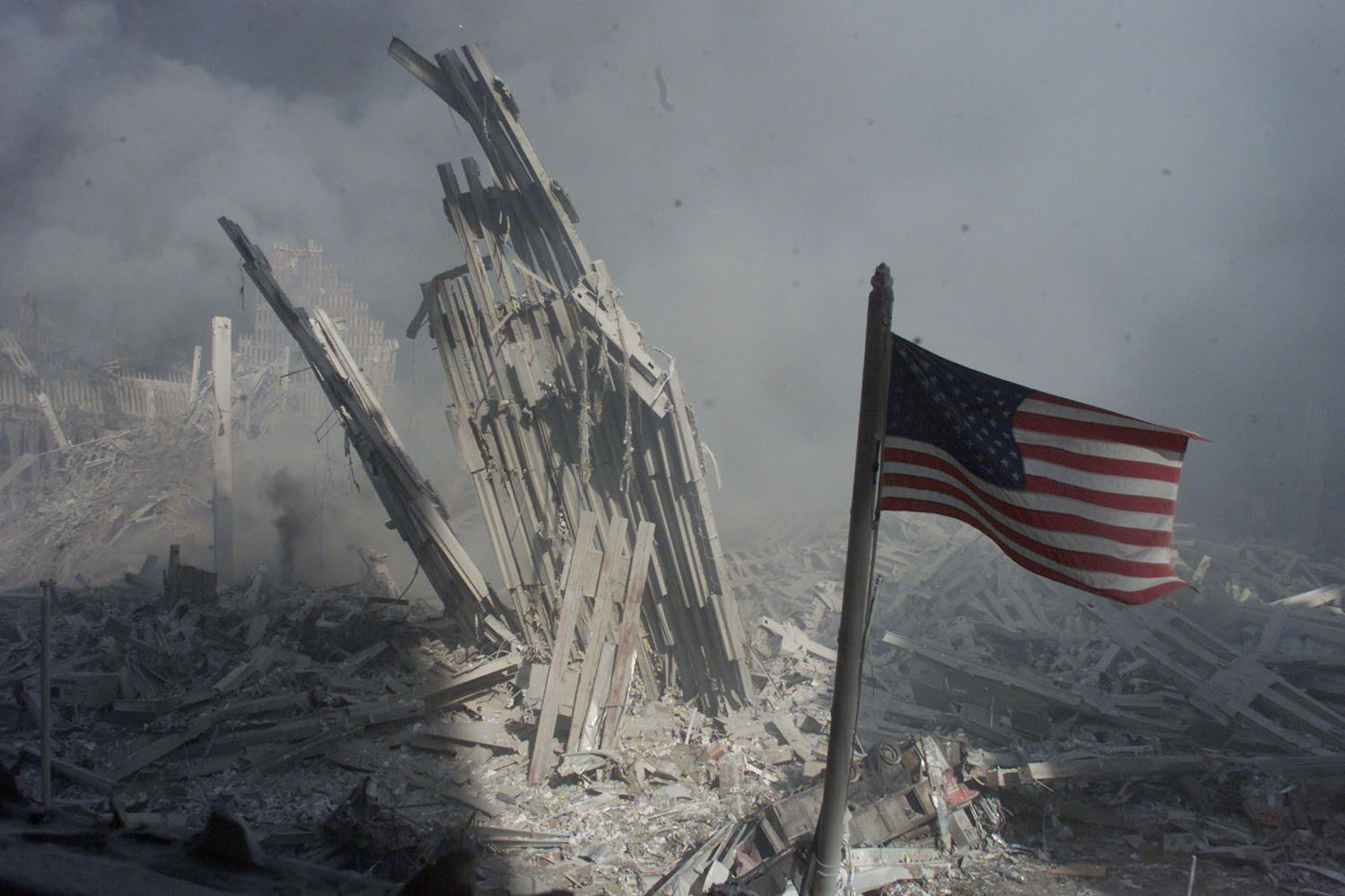 Twin Towers wreckage
