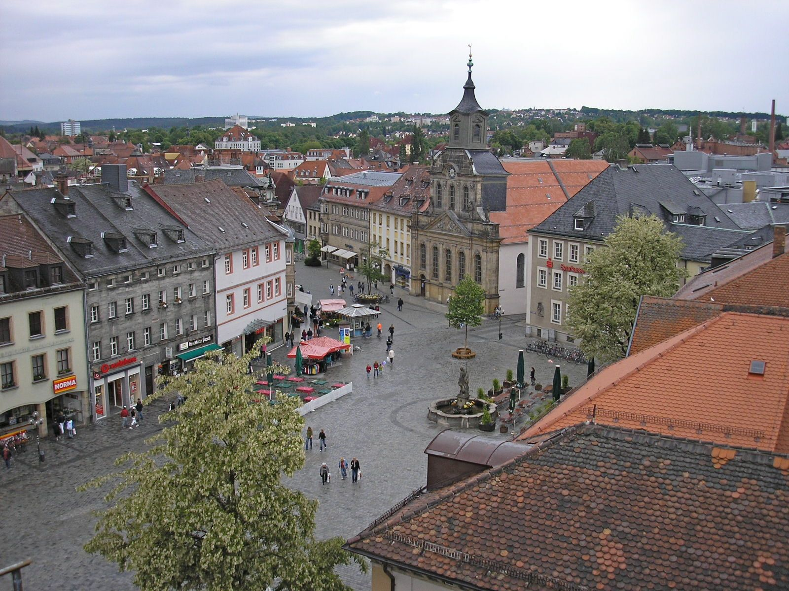 Bayreuth town square
