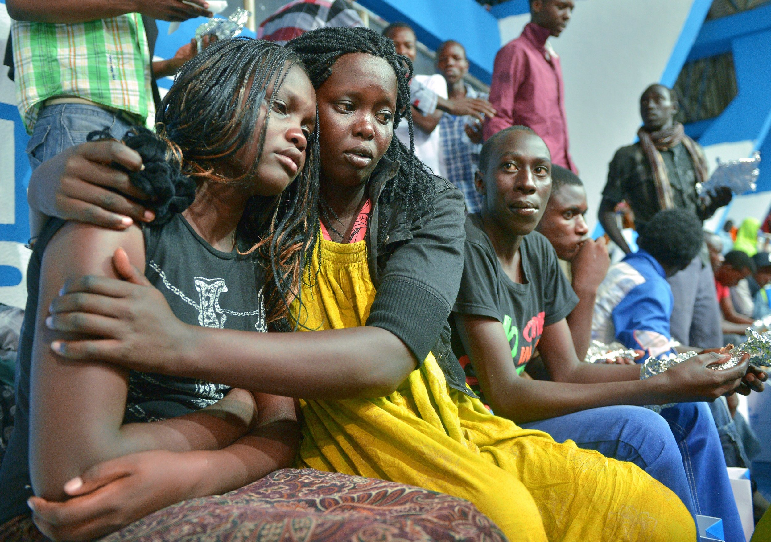 Survivors of Al-Shabab attack in Kenya