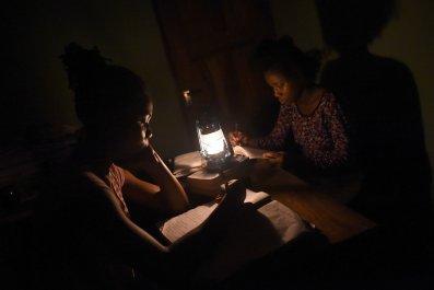 Nigeria students in darkness