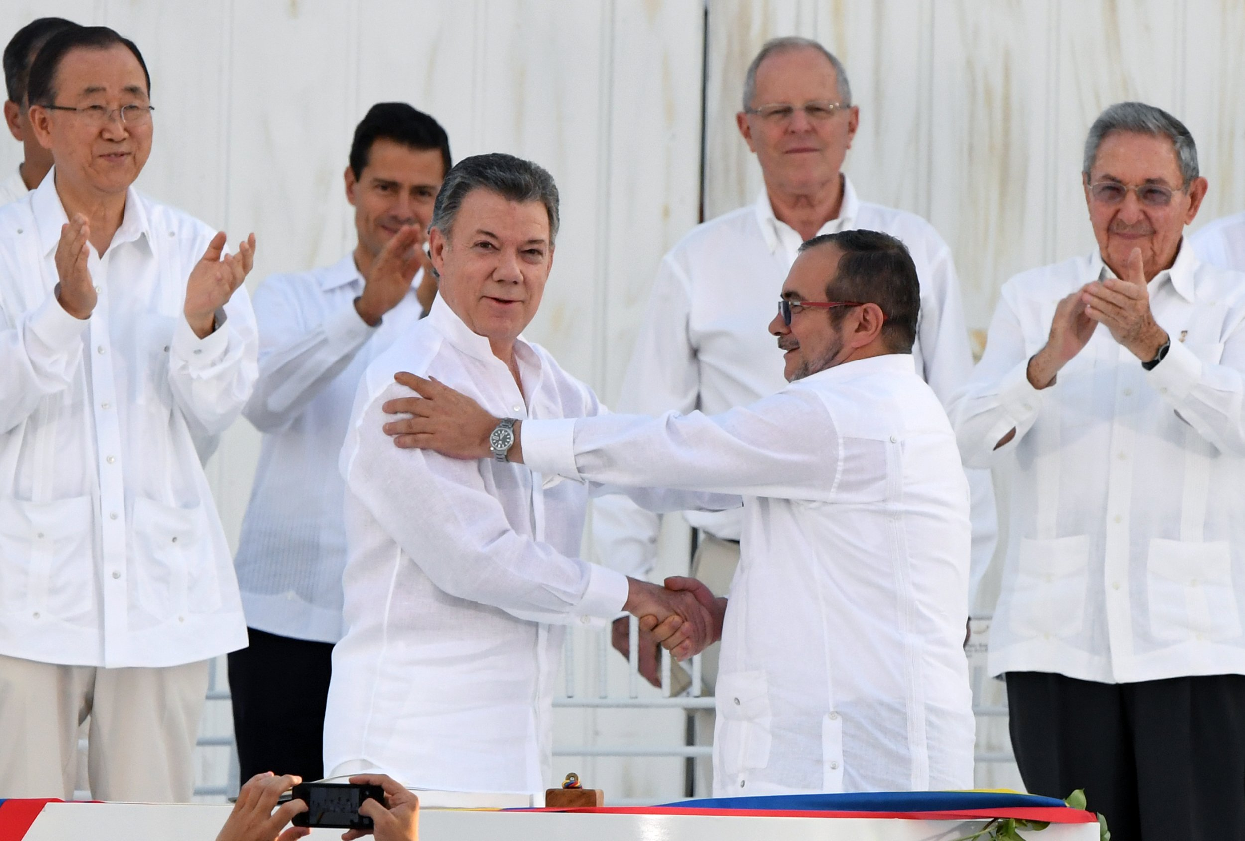 Colombian President and FARC Leader