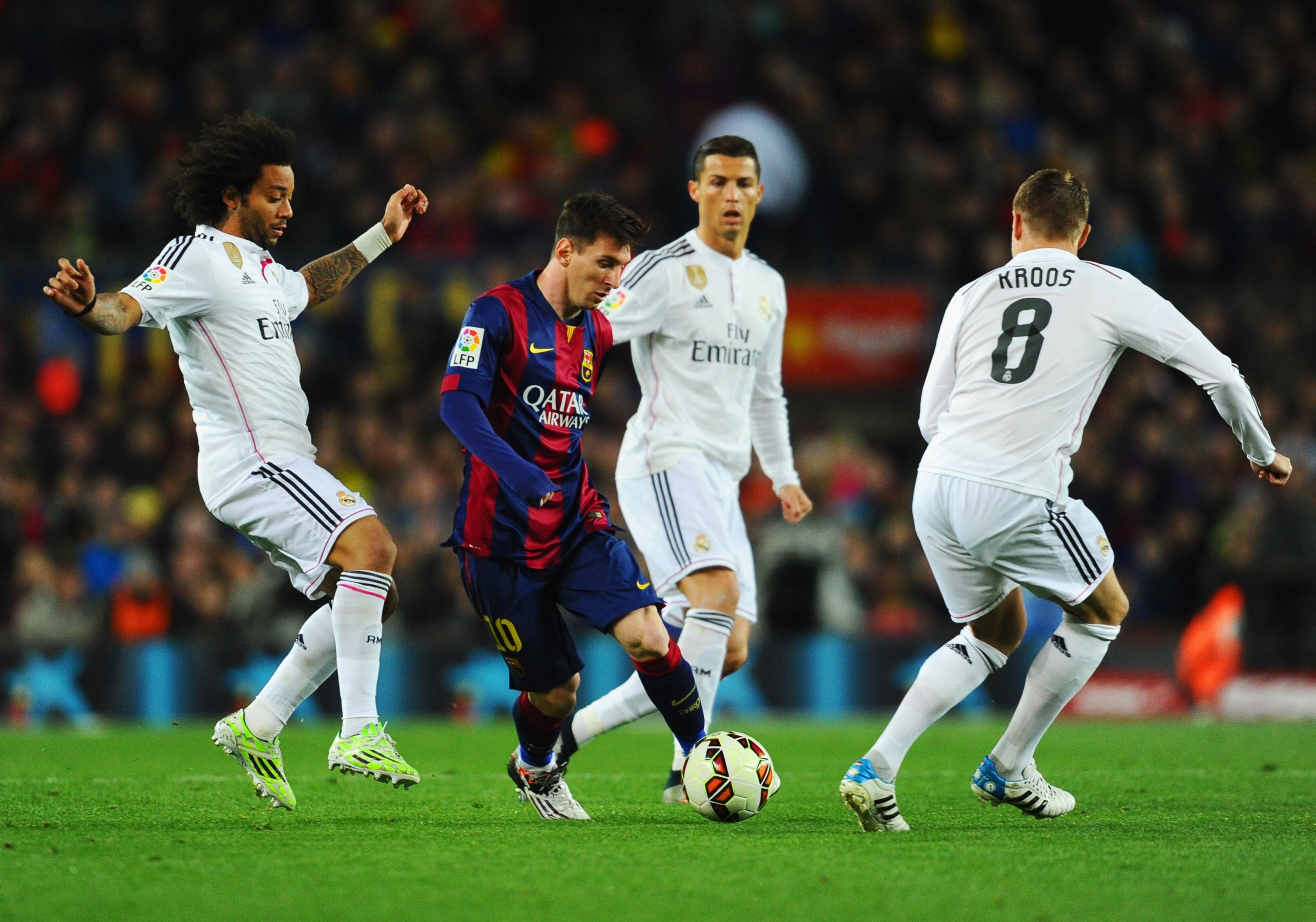 Barcelona and Real Madrid
