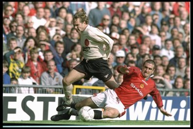 Ex Liverpool midfielder Jason McAteer, left.
