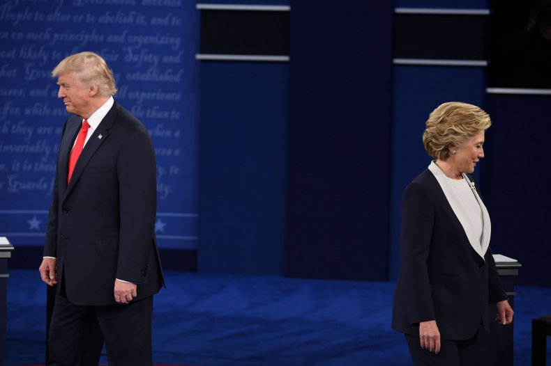Donald Trump and Hillary Clinton at the second debate