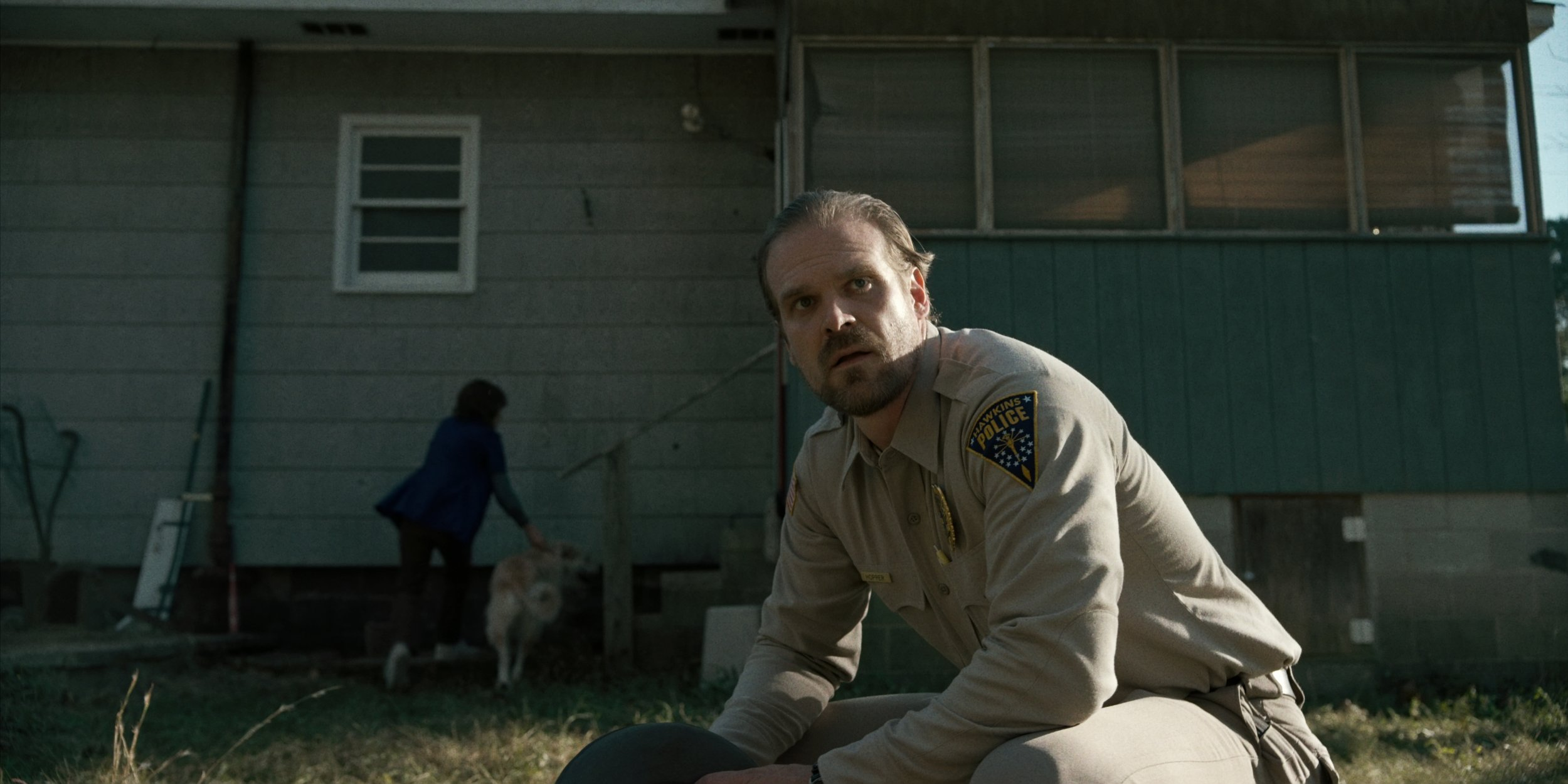 David Harbour as Jim Hopper on Stranger Things