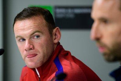 Ex England captain Wayne Rooney, left.
