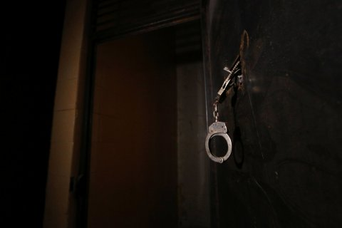 ISIS prison in Manbij