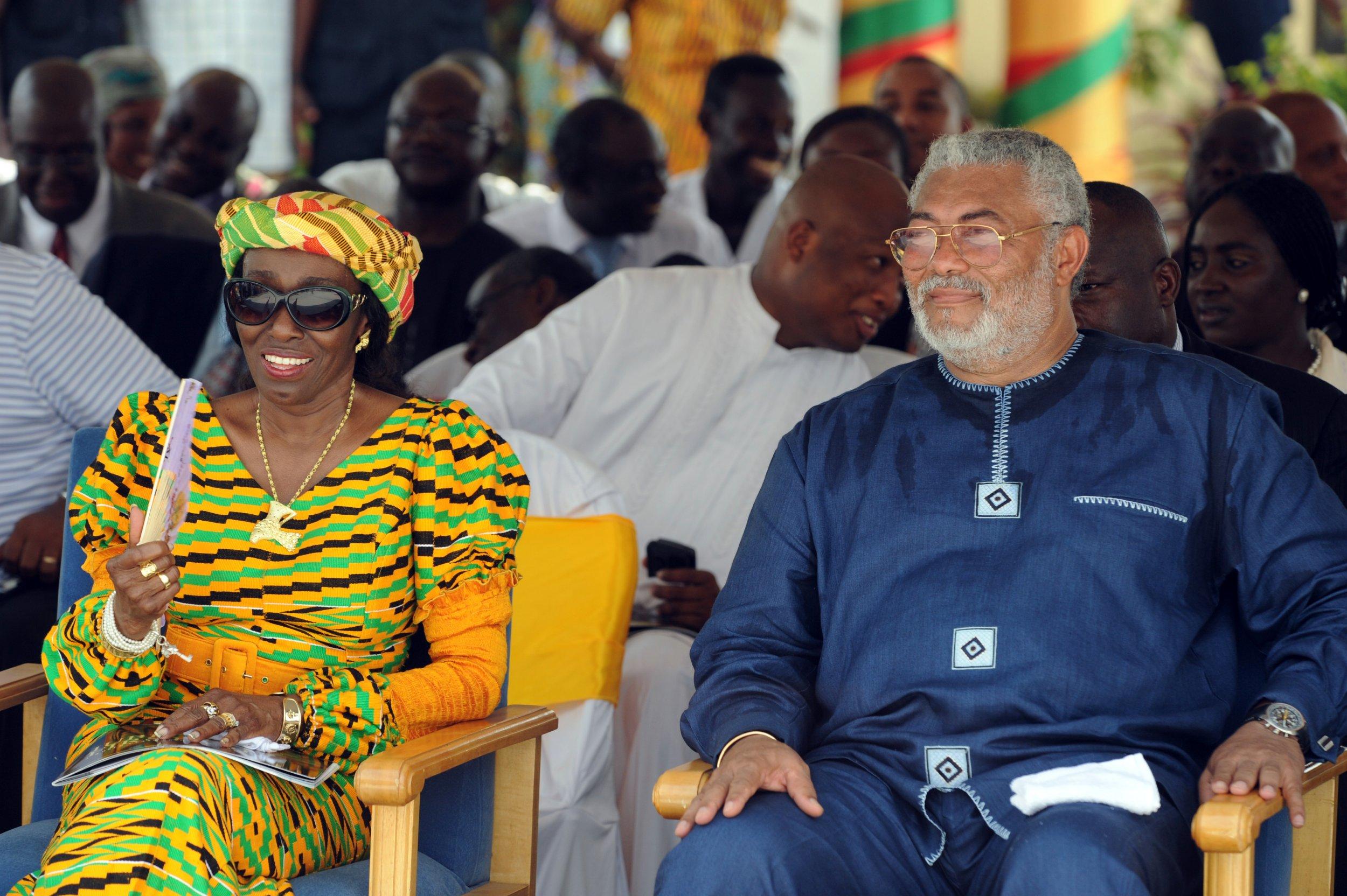 Nana Agyeman-Rawlings and Jerry Rawlings