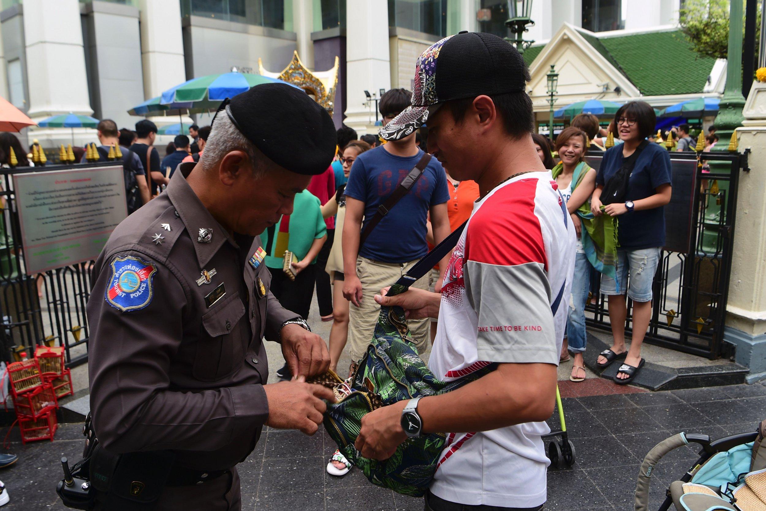 Thai police in Bangkok