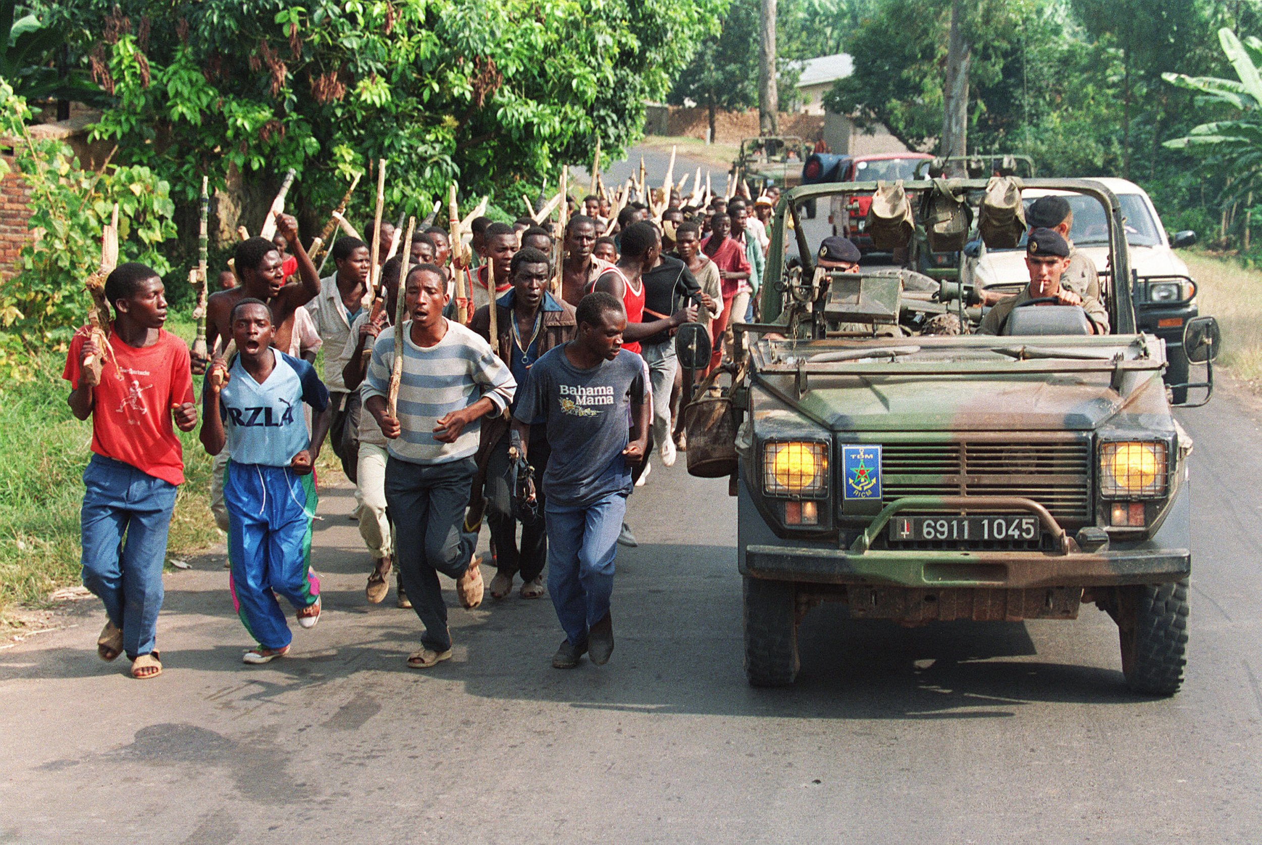 French soldiers in Rwanda