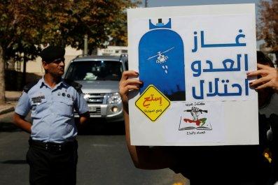 Anti-Israeli gas protest in Jordan