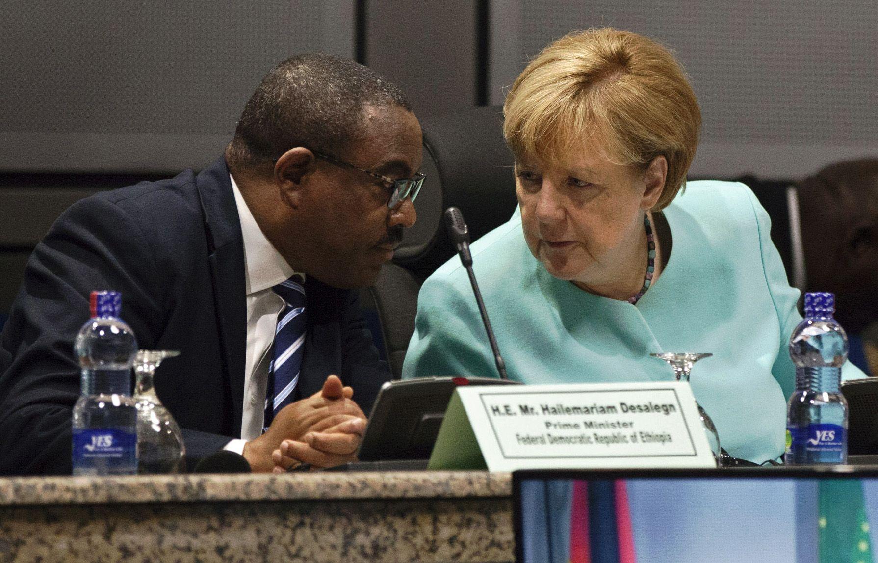 Desalegn and Merkel
