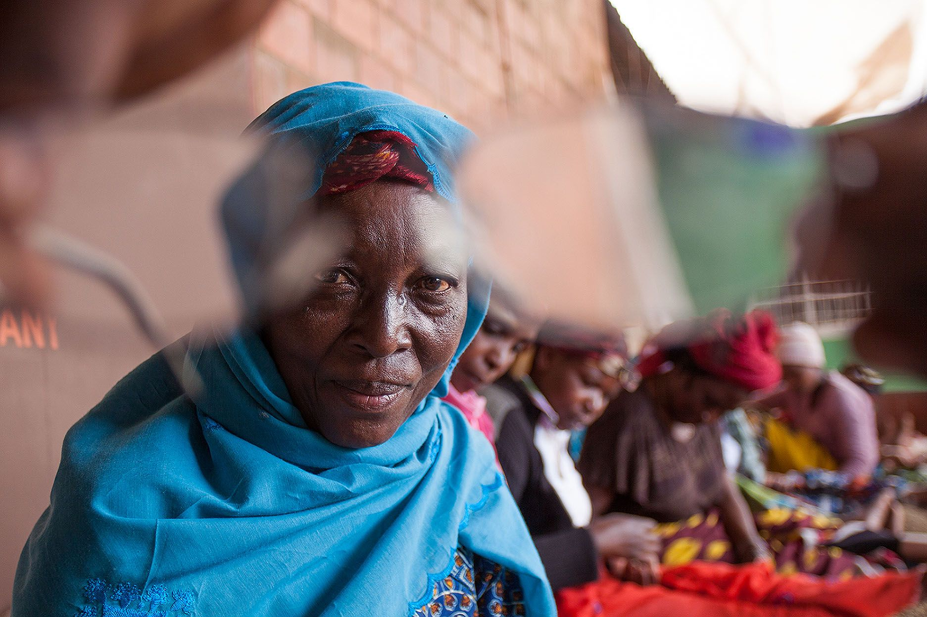 Woman with poor eyesight