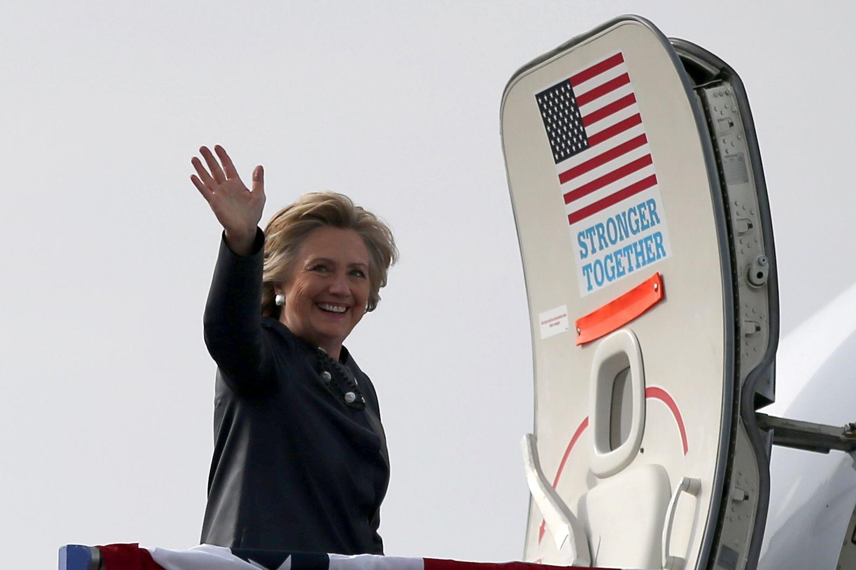 Hillary Clinton leaves Pueblo, Colorado