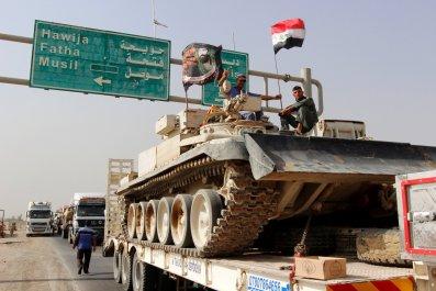 Iraqi tanks head towards Mosul
