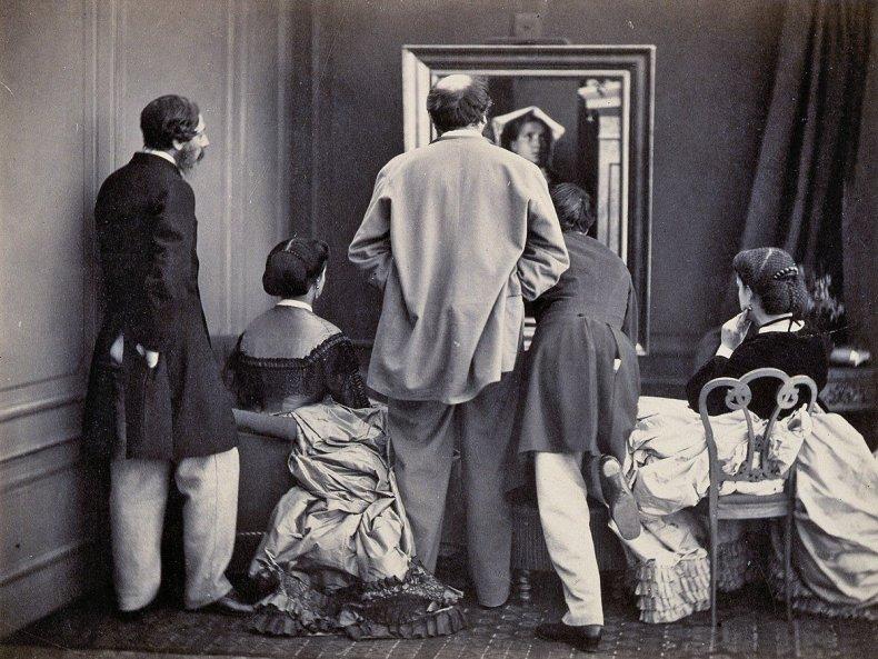 Photographer Olympe Aguado's Admiration!, circa 1860.