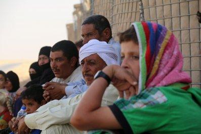 Iraqis fleeing ISIS