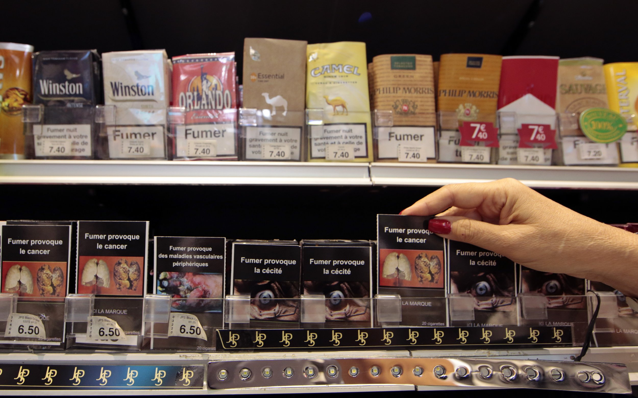 Cigarette packs