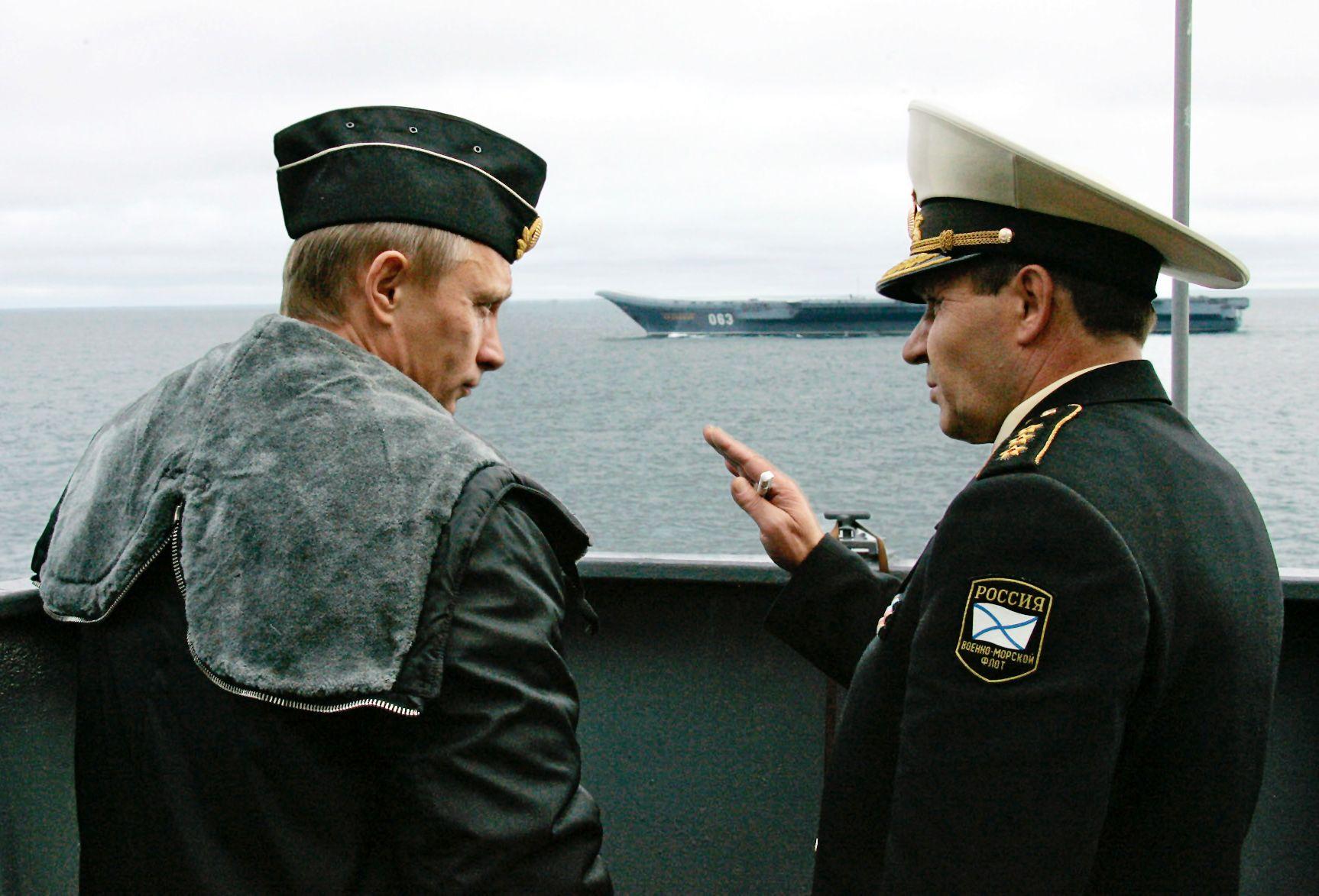 Putin in naval uniform