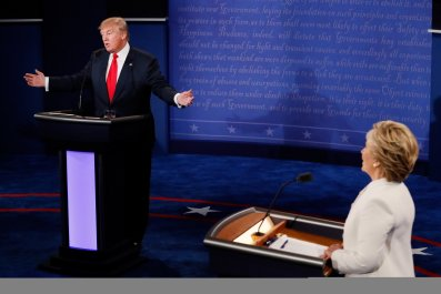 Trump v Clinton debate three