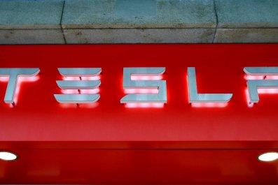 Tesla self-driving autonomous car