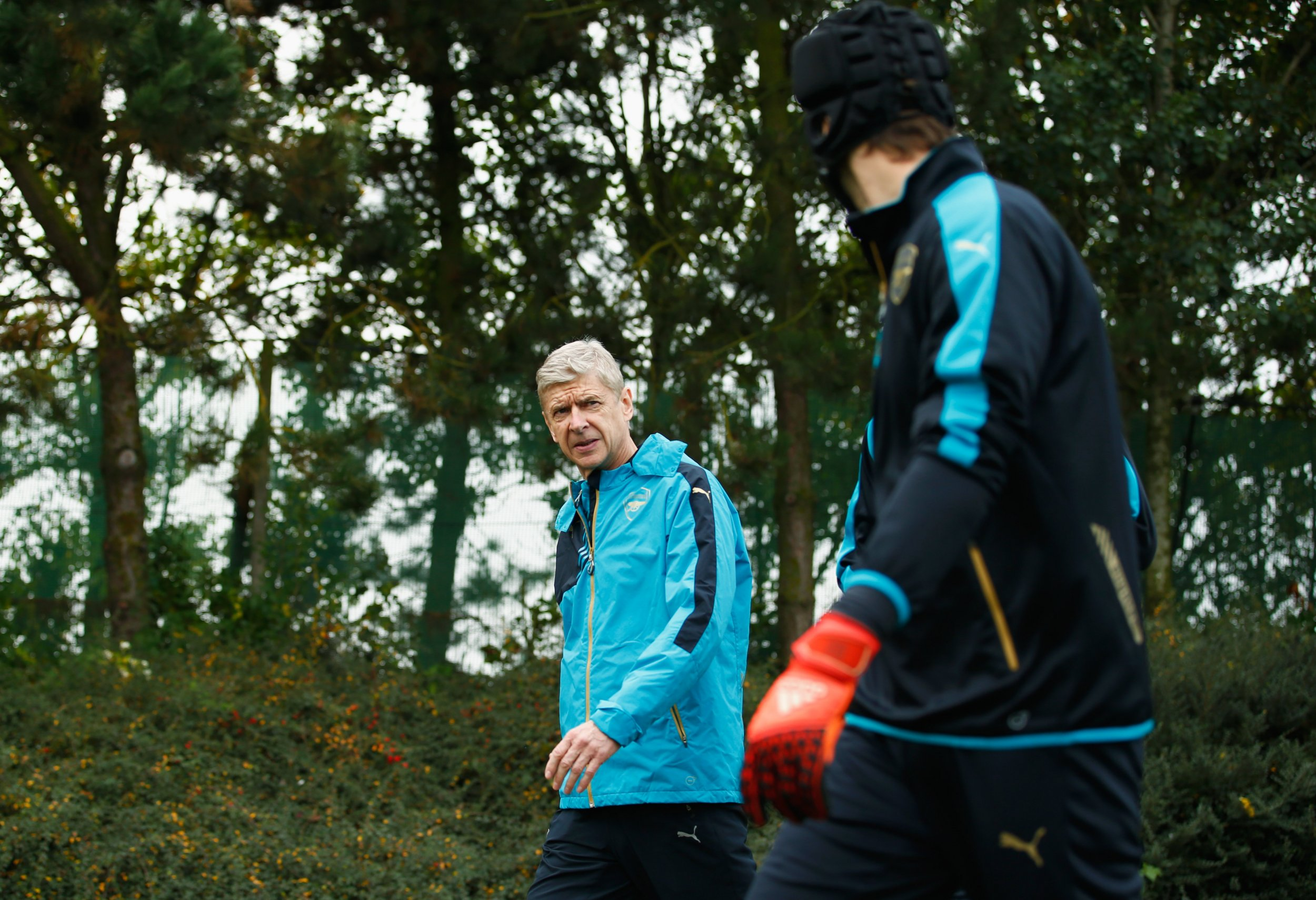 Arsene Wenger and Petr Cech