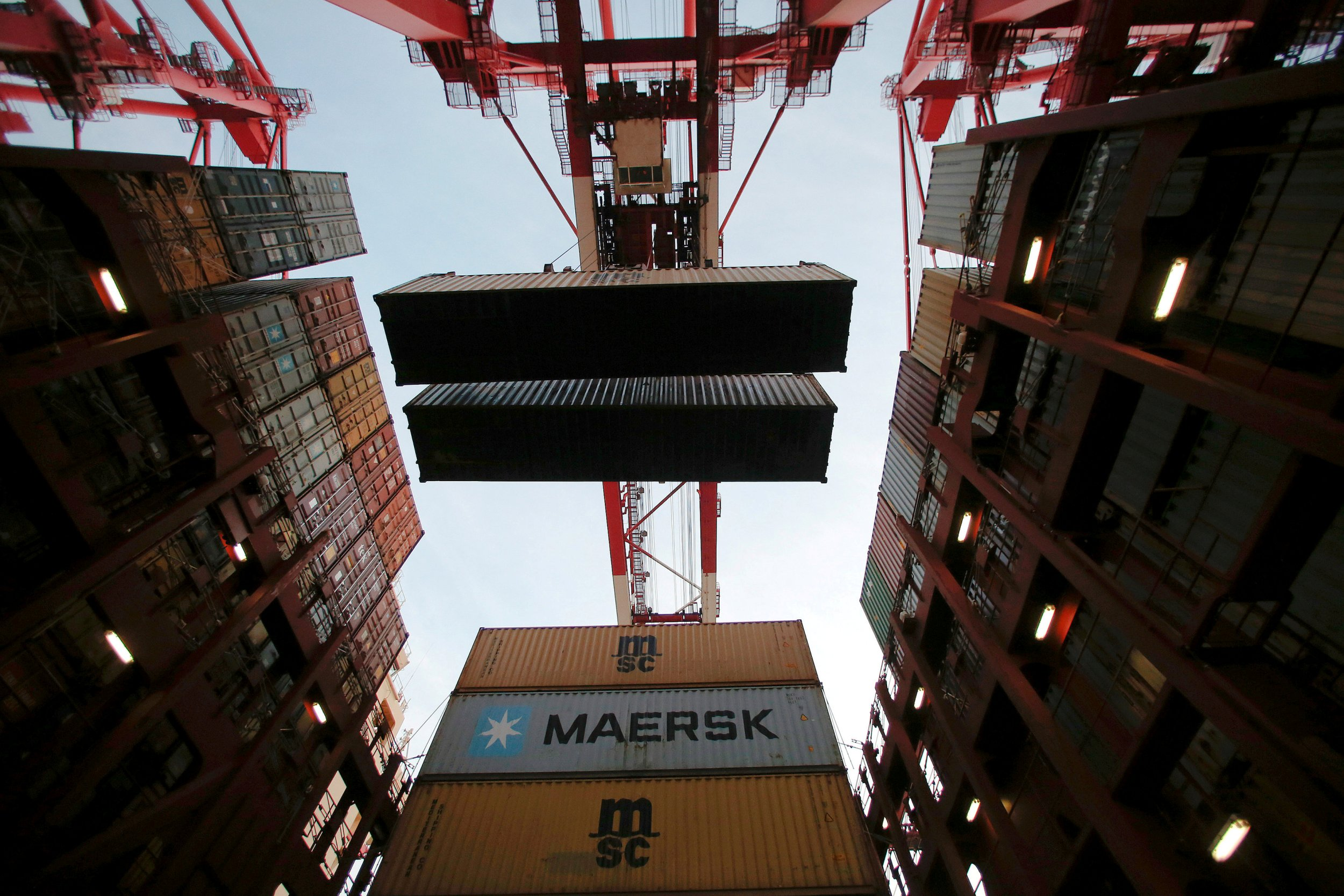 Maersk ship containers