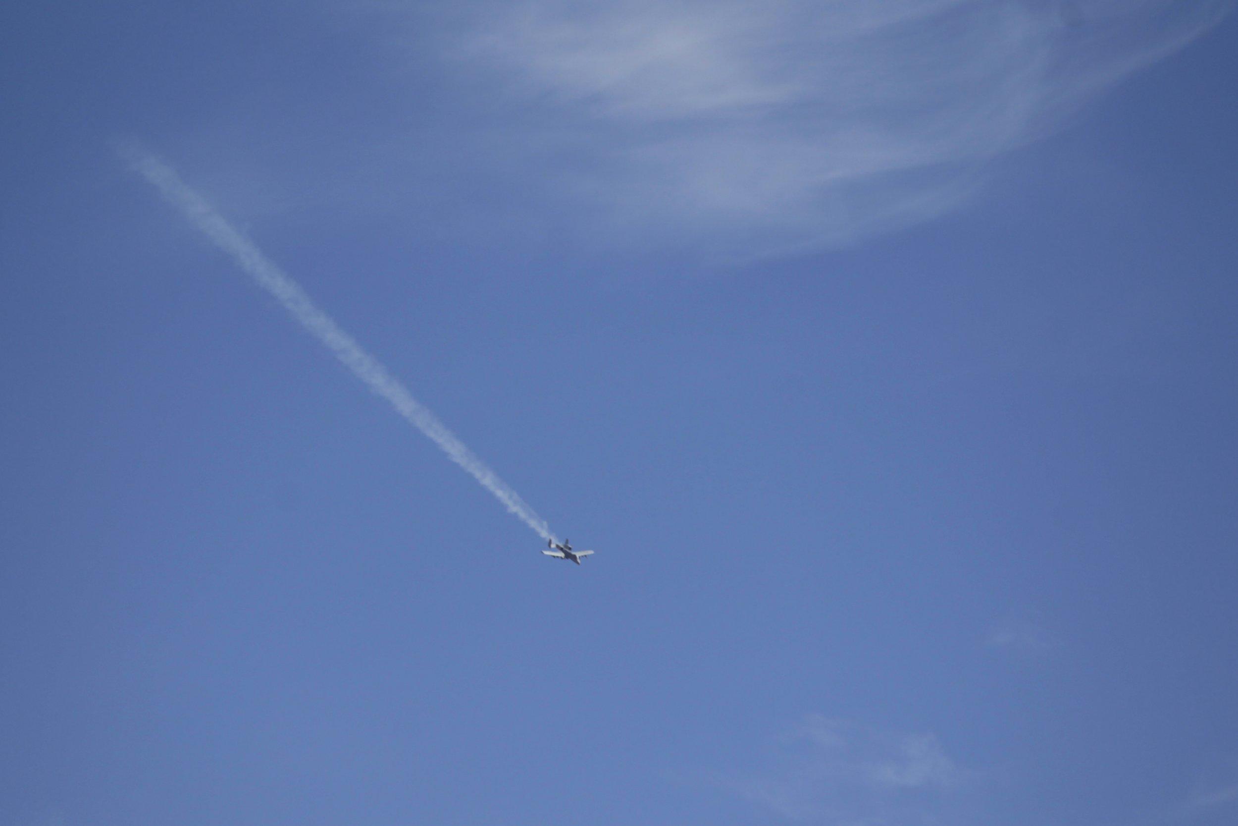 Jet in Syrian skies