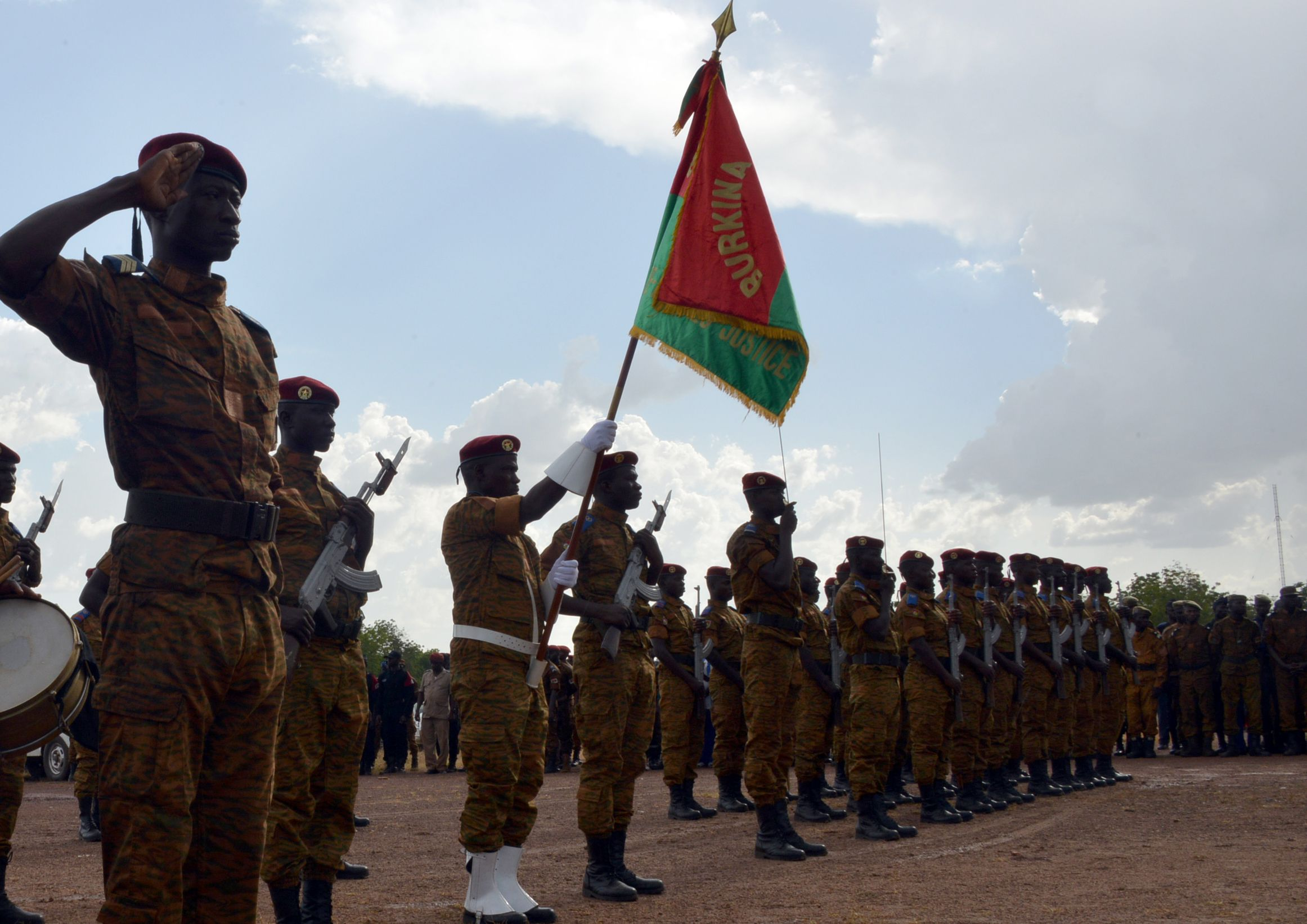 Burkina Faso soldier funeral