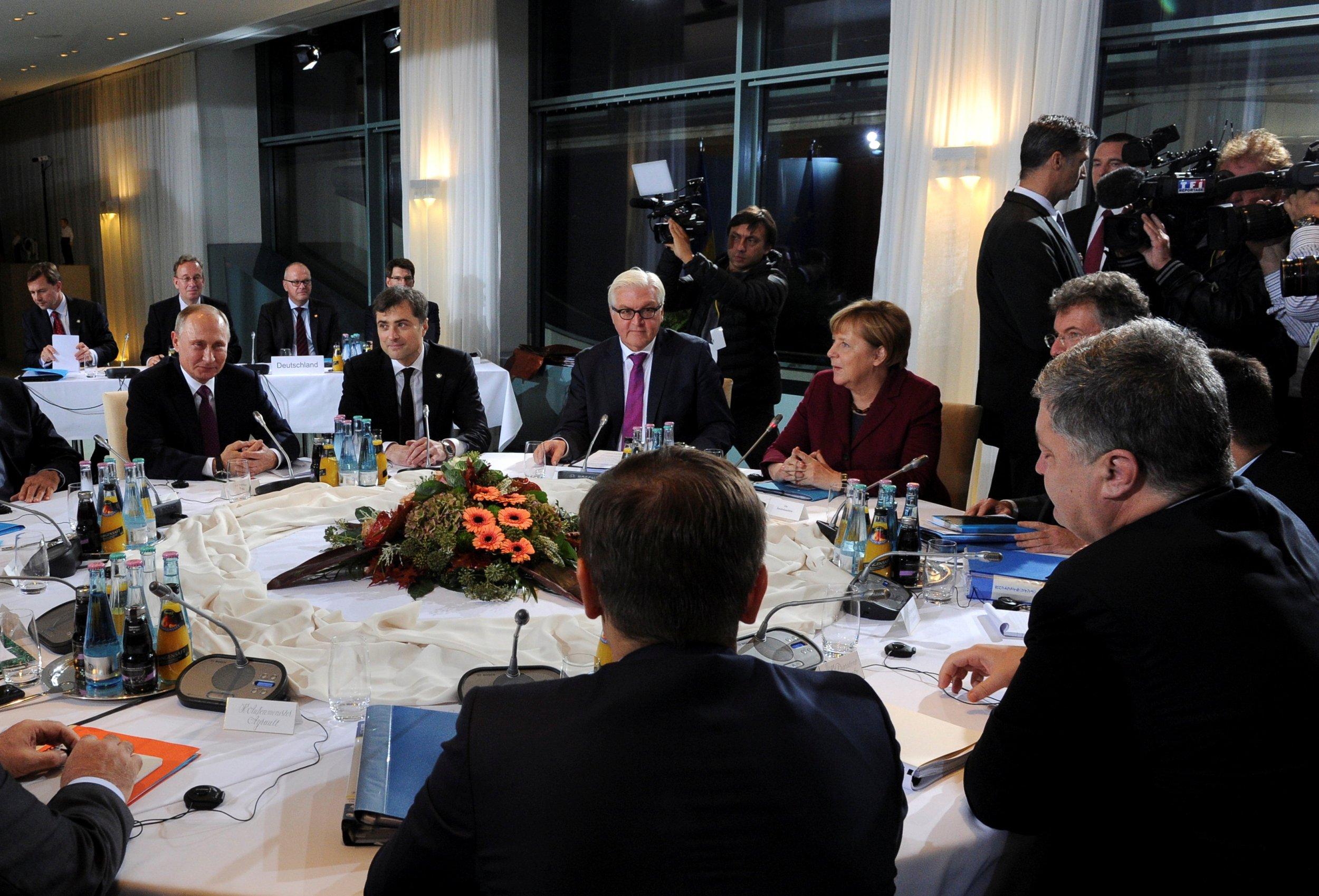 Putin, Poroshenko, Merkel and Hollande