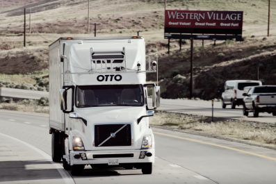 uber beer self-driving truck otto