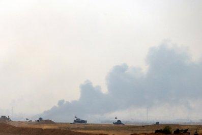 Iraqi soldiers in Bashiqa