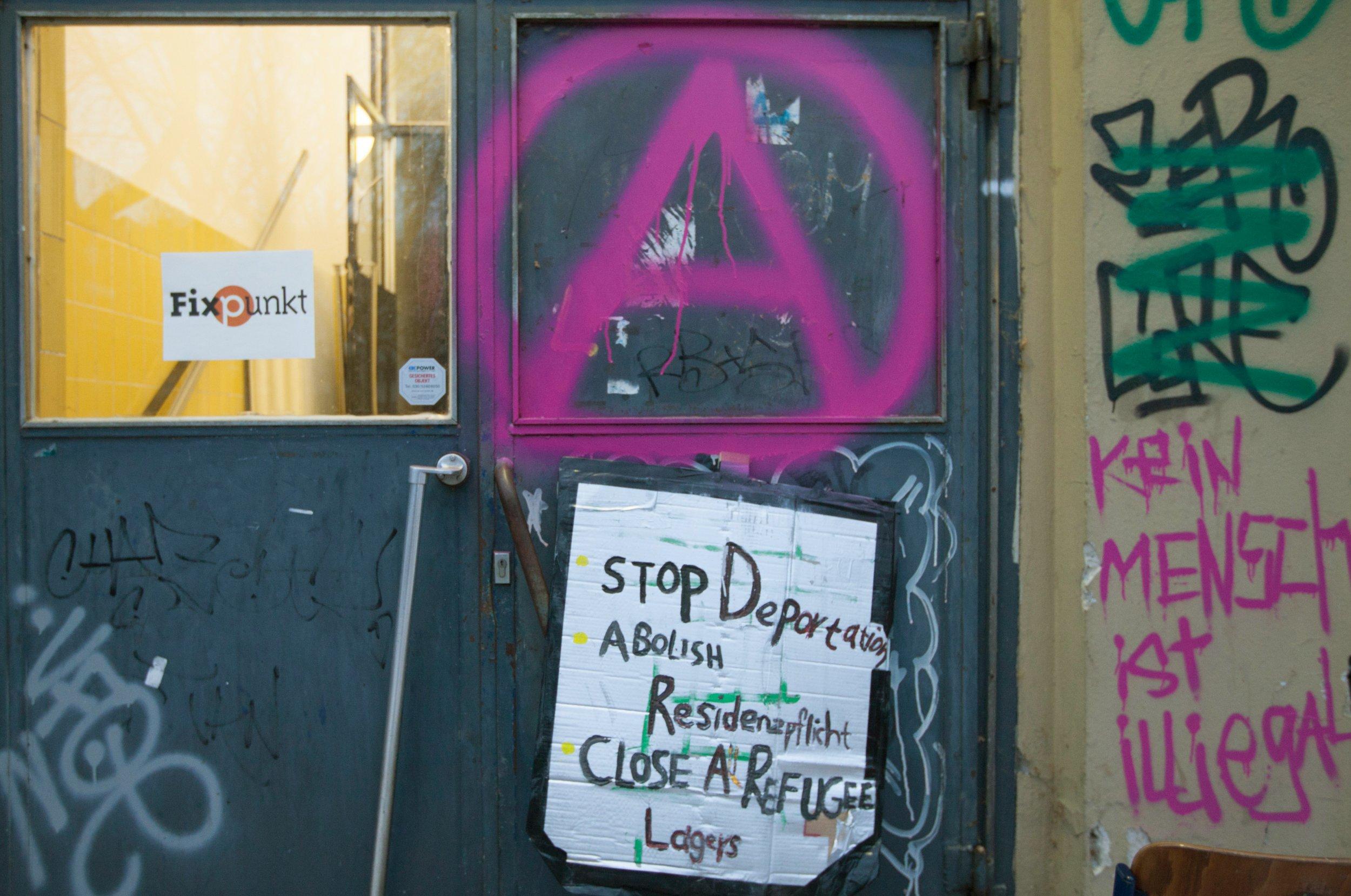 Graffiti on wall,