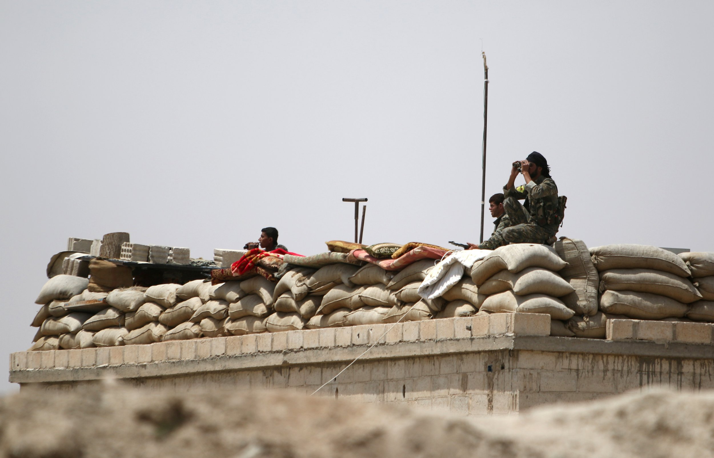 Lookout in Raqqa