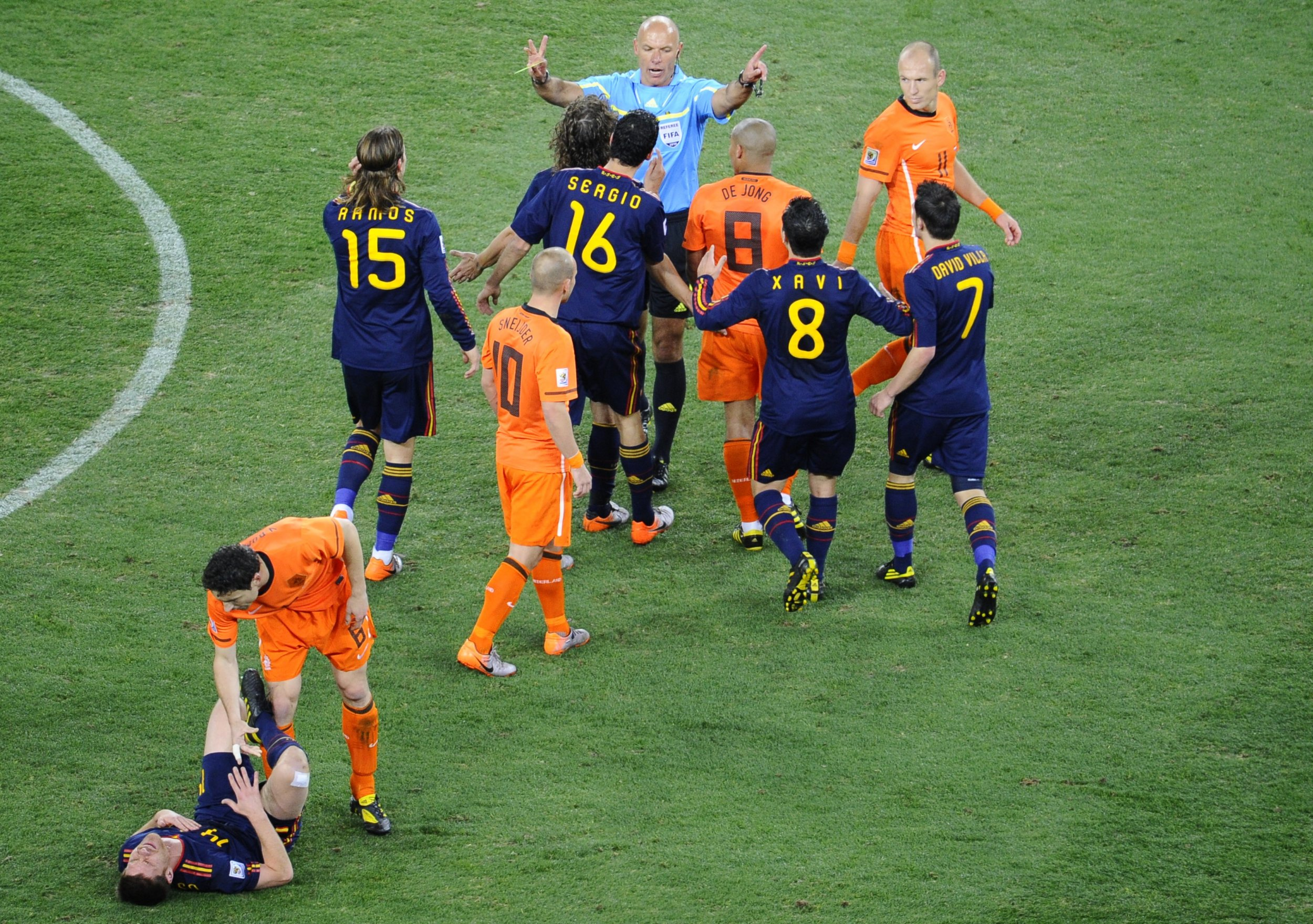 Howard Webb during the 2010 World Cup final