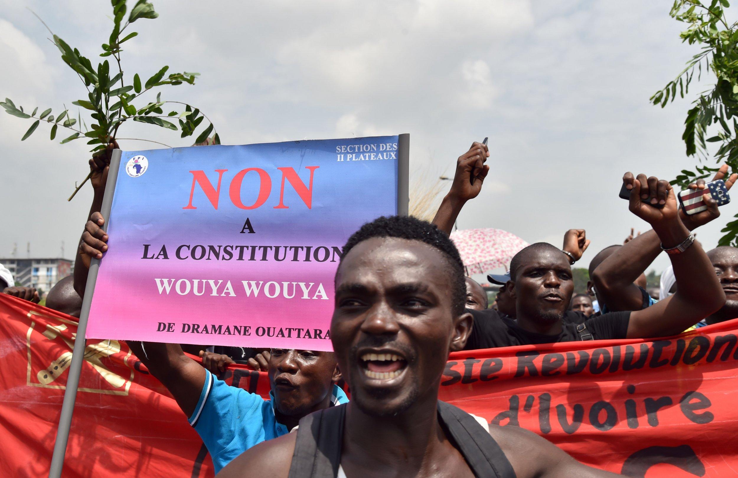 Ivory Coast constitution protest