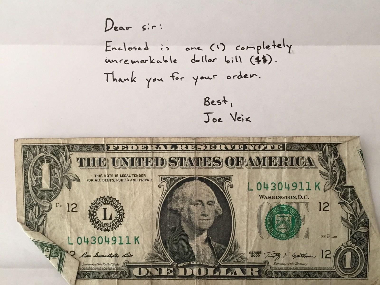 My Get Rich Quick Scheme Sell Dollar Bills On Ebay