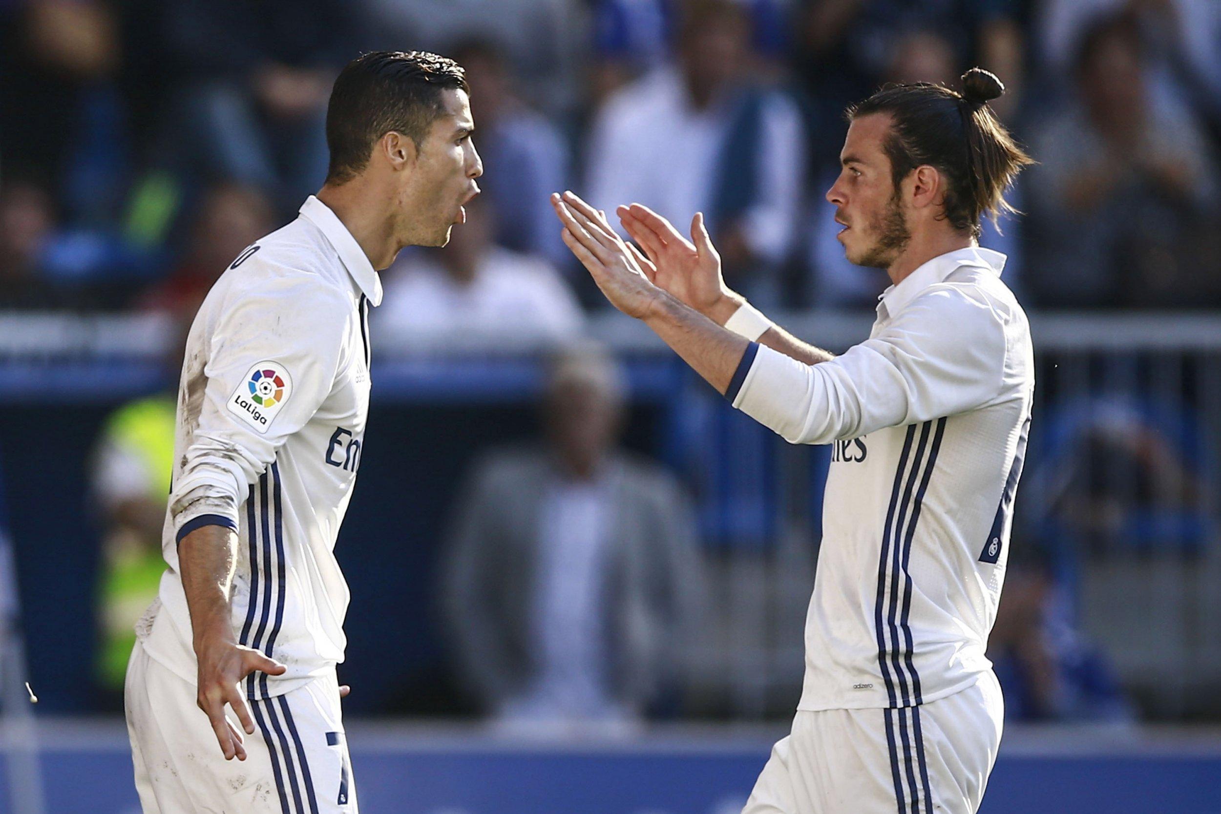 Gareth Bale, right, with Cristiano Ronaldo.