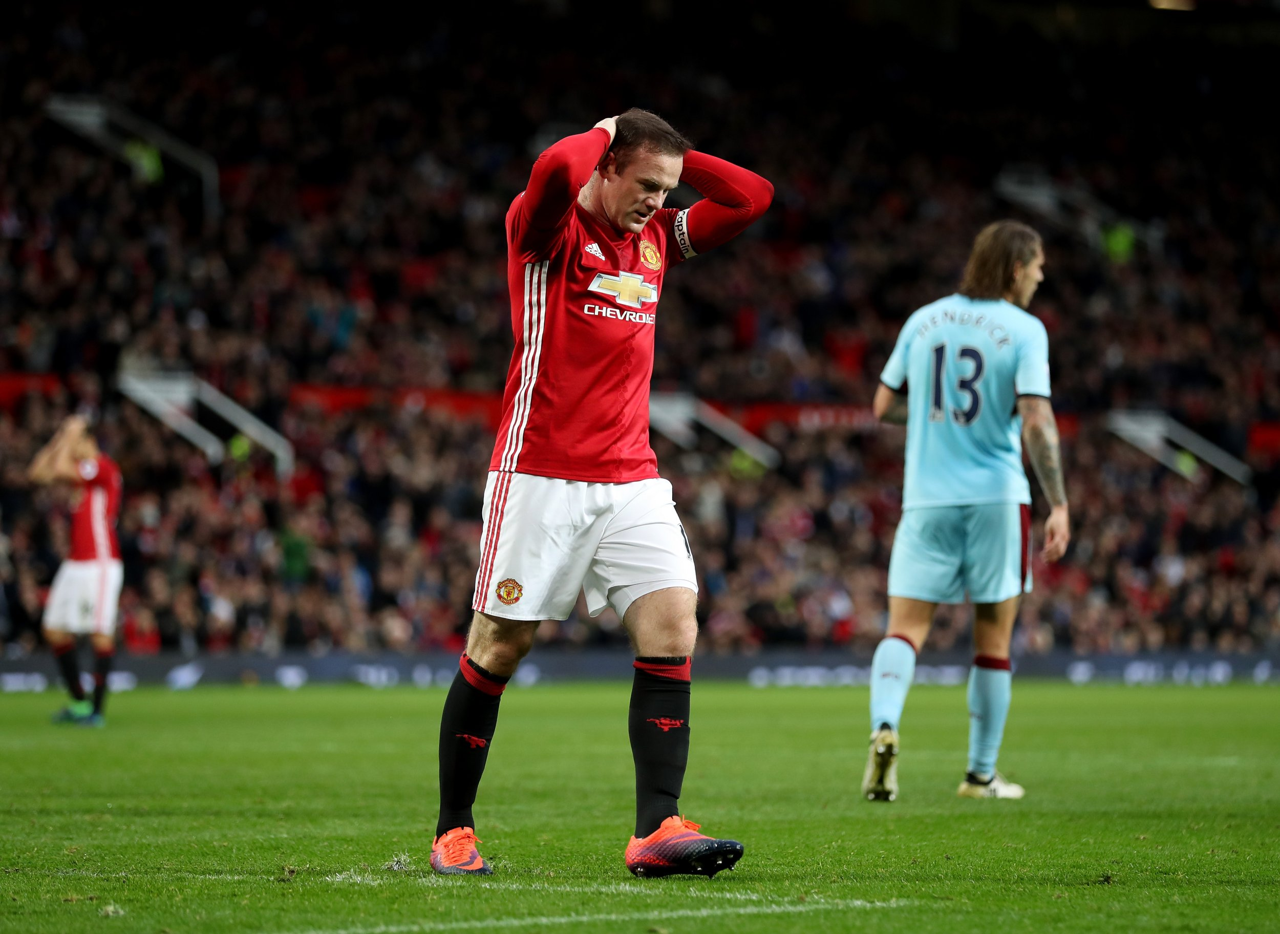 Manchester United striker Wayne Rooney.