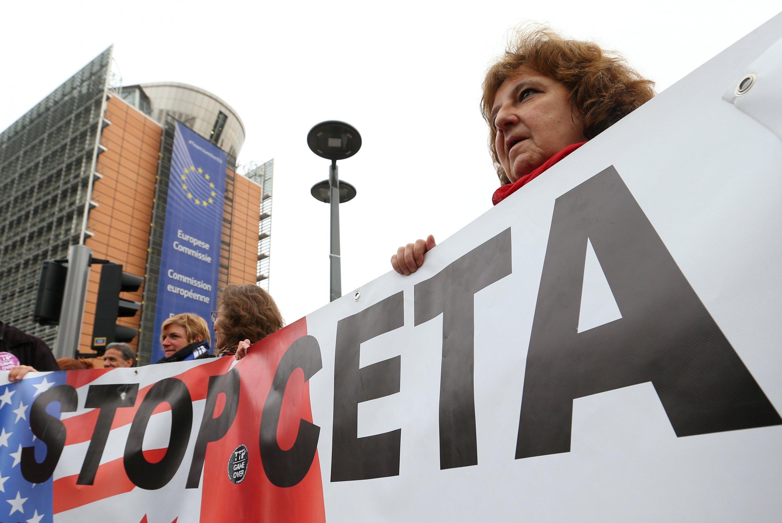 Anti-CETA demonstrators