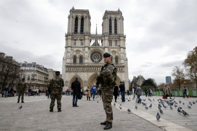 Notre Dame soldiers