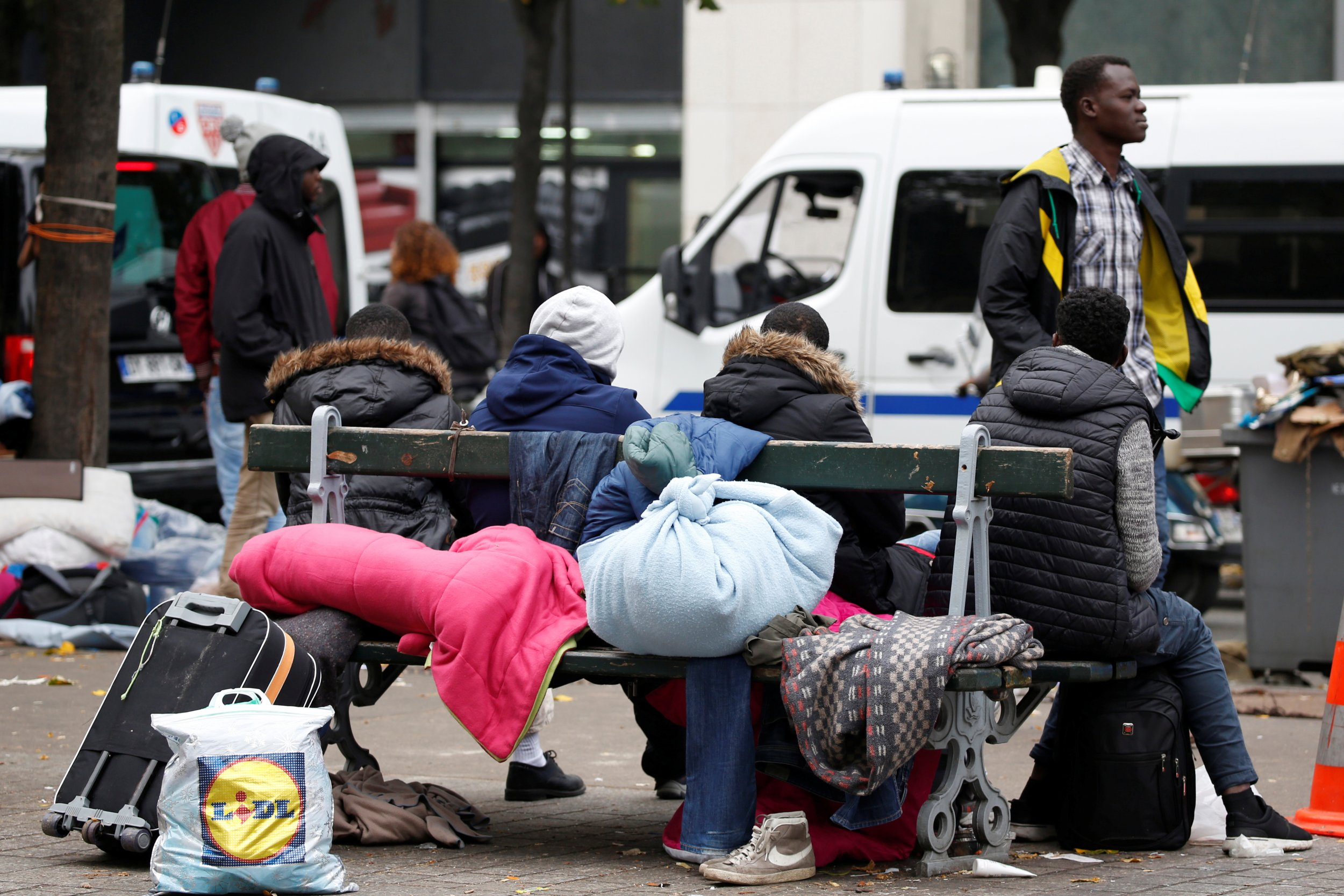 Migrants in Paris