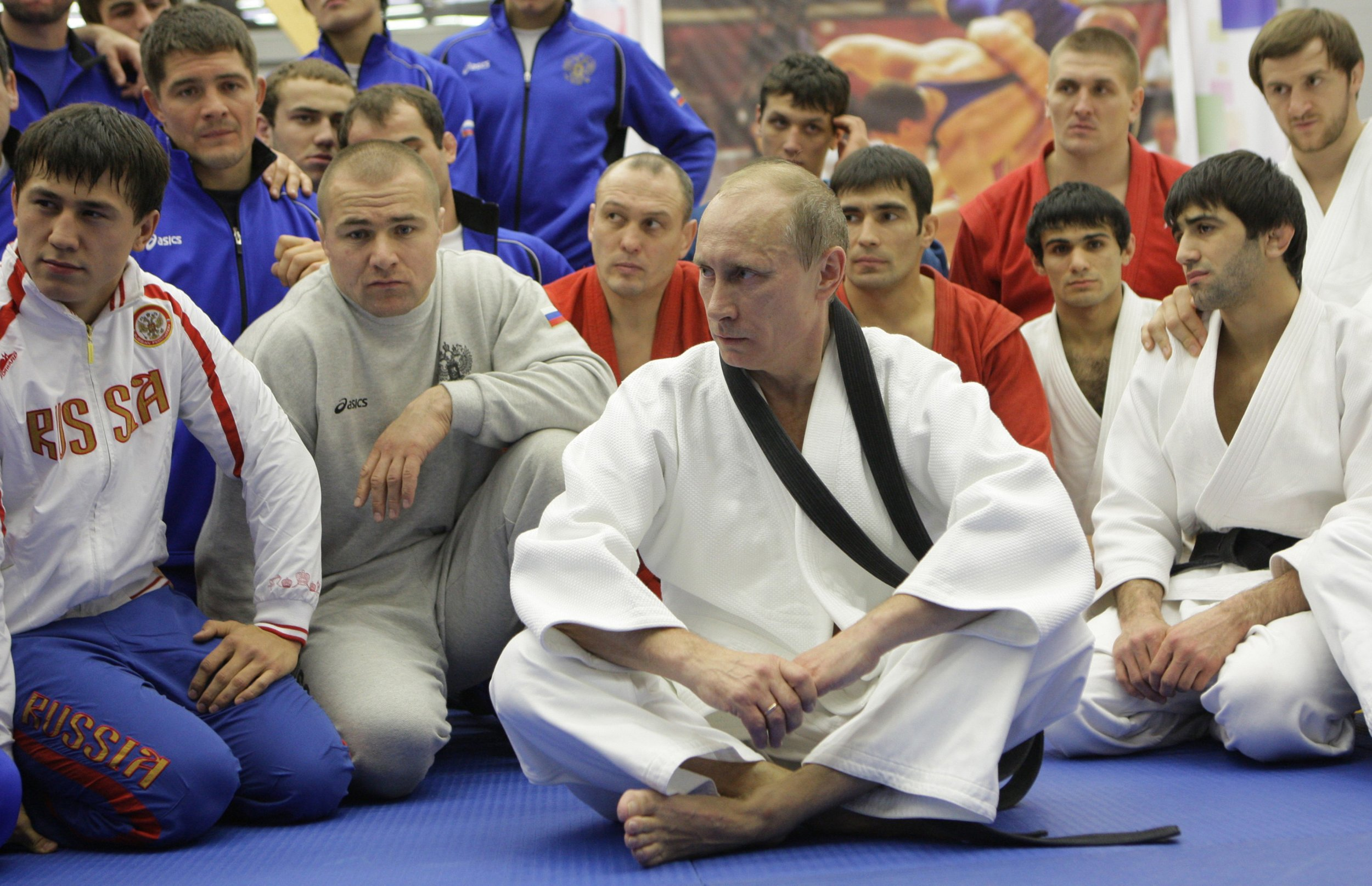 Vladimir Putin in judo uniform
