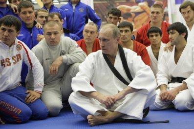 Vladimir Putin in judo uniform