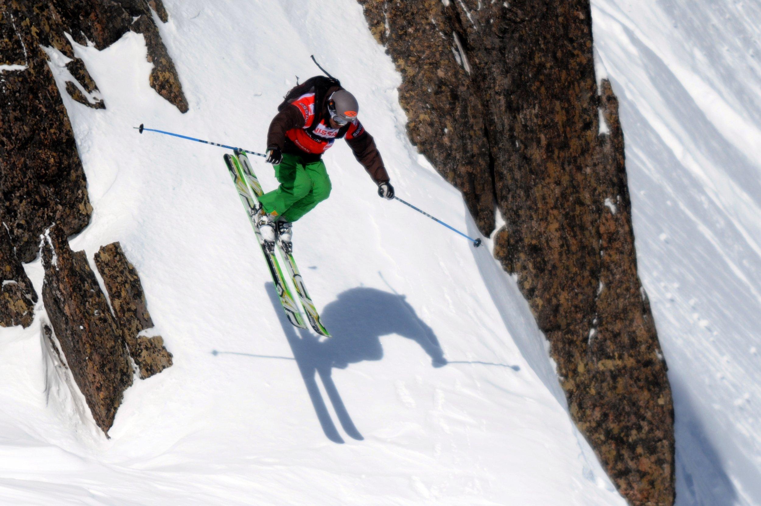 US free rider JT Holmes in Chamonix, eastern France