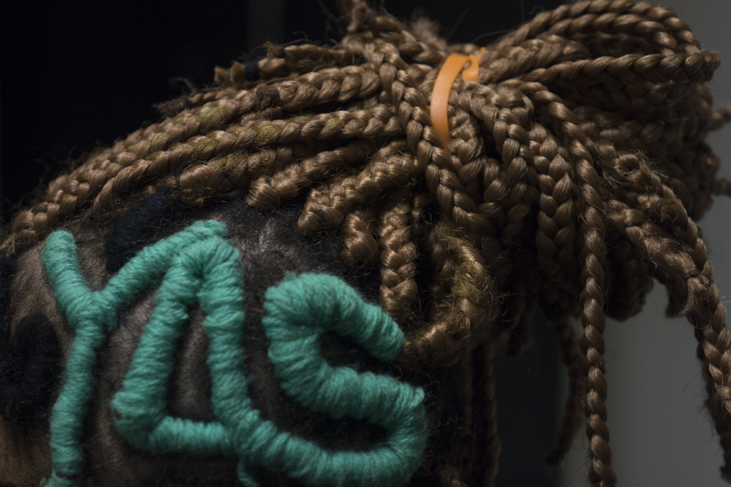 Black Power Girls Braid