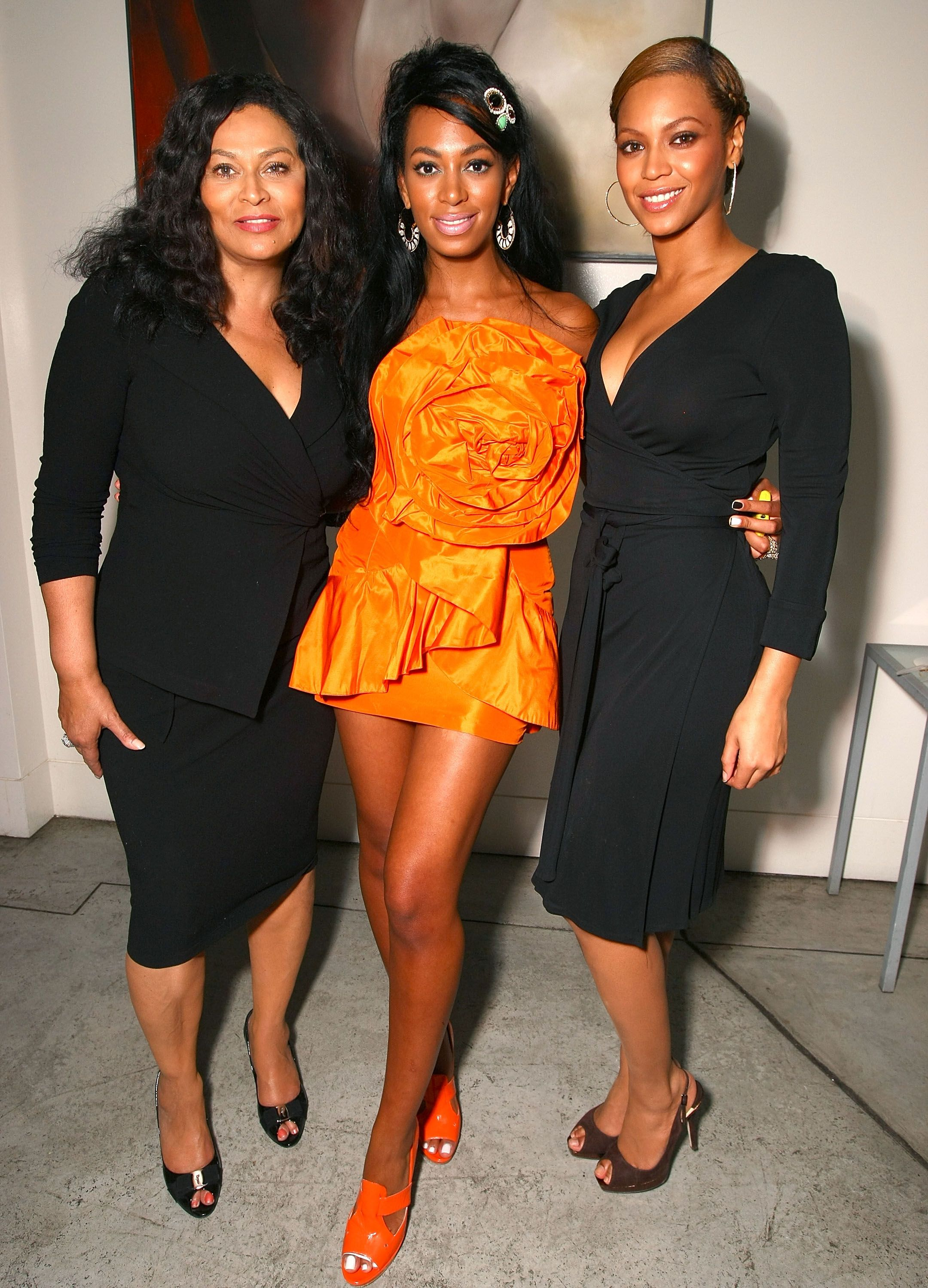 Beyonce, Solange and Tina Lawson