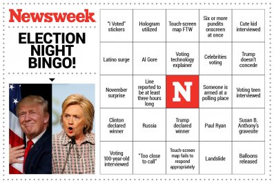Election Night Bingo