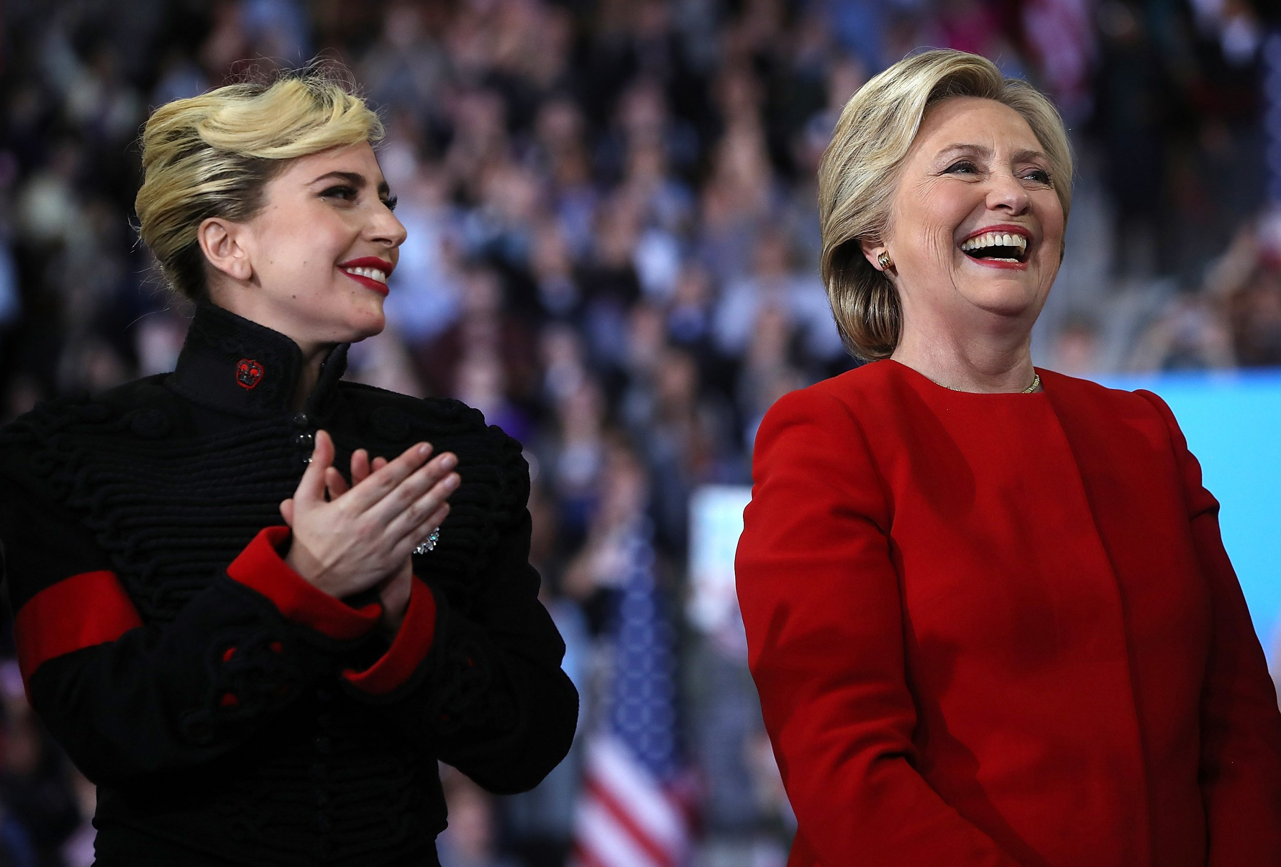 Lady Gaga and Hillary Clinton