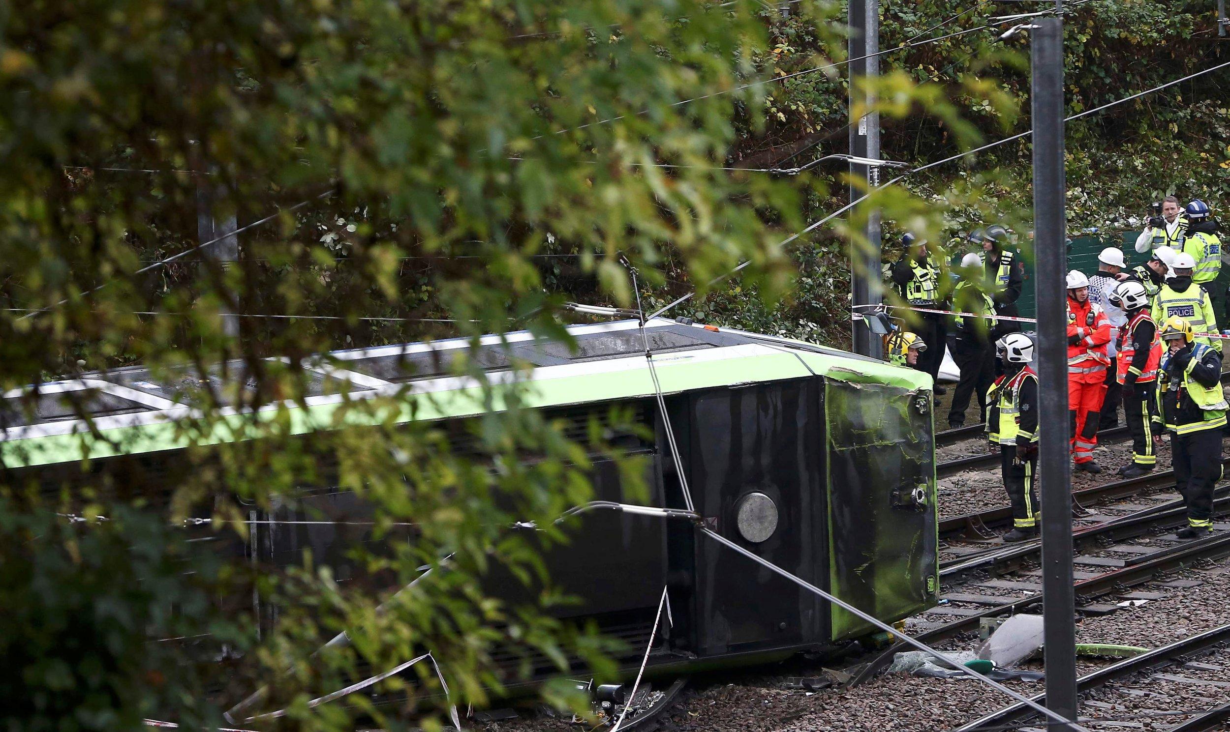Tram Overturns in London